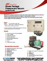 Hibon SILENTFLOW Blower Vacuum and Pressure Package Spec Sheet