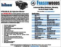 Hibon VTB 820 XL Blower Spec Package