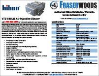 Hibon VTB 840 XL Blower Spec Package
