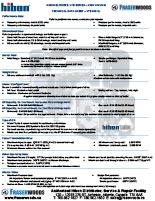 Hibon VTB 810 XL Technical Data Sheet