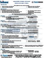 Hibon VTB 820 XL Technical Data Sheet