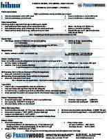 Hibon VTB 822 XL Technical Data Sheet